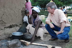 Jacob Moss, Director of the U.S. Cookstoves Initiatives at the Department of State, visiting households participating in the stud