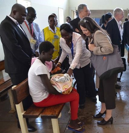 Dr Hader tours Kenya Center