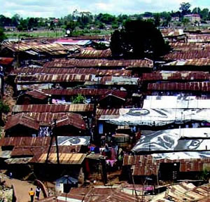 Kibera, in Nairobi, is one of Africa's largest slums.