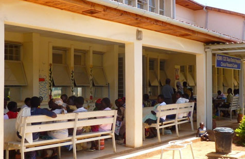 A view of the clinic in Kisumu, Kenya