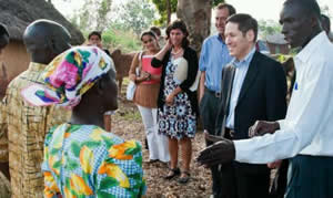 Community members who participate in disease surveillance projects that help prioritize interventions and save lives welcomed Dr. Frieden into their homes.