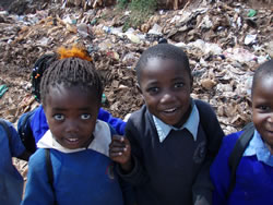 Image group of children in Kenya