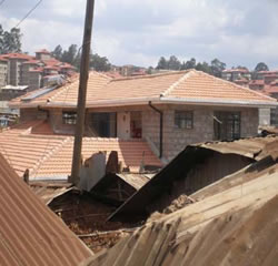 A view of the Tabitha clinic in Kibera