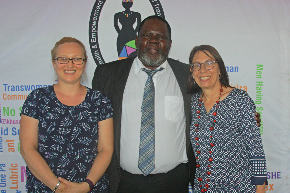 HSRC and CDC South Africa launched the first study in Africa looking at the HIV prevalence in transgender women. From right to left: Allanise Cloete, Research Specialist at the HSRC, Professor Leickness Simbayi, HSRC's Deputy Chief Executive Officer for Research, and Helen Savva, CDC SA's Key Populations Lead