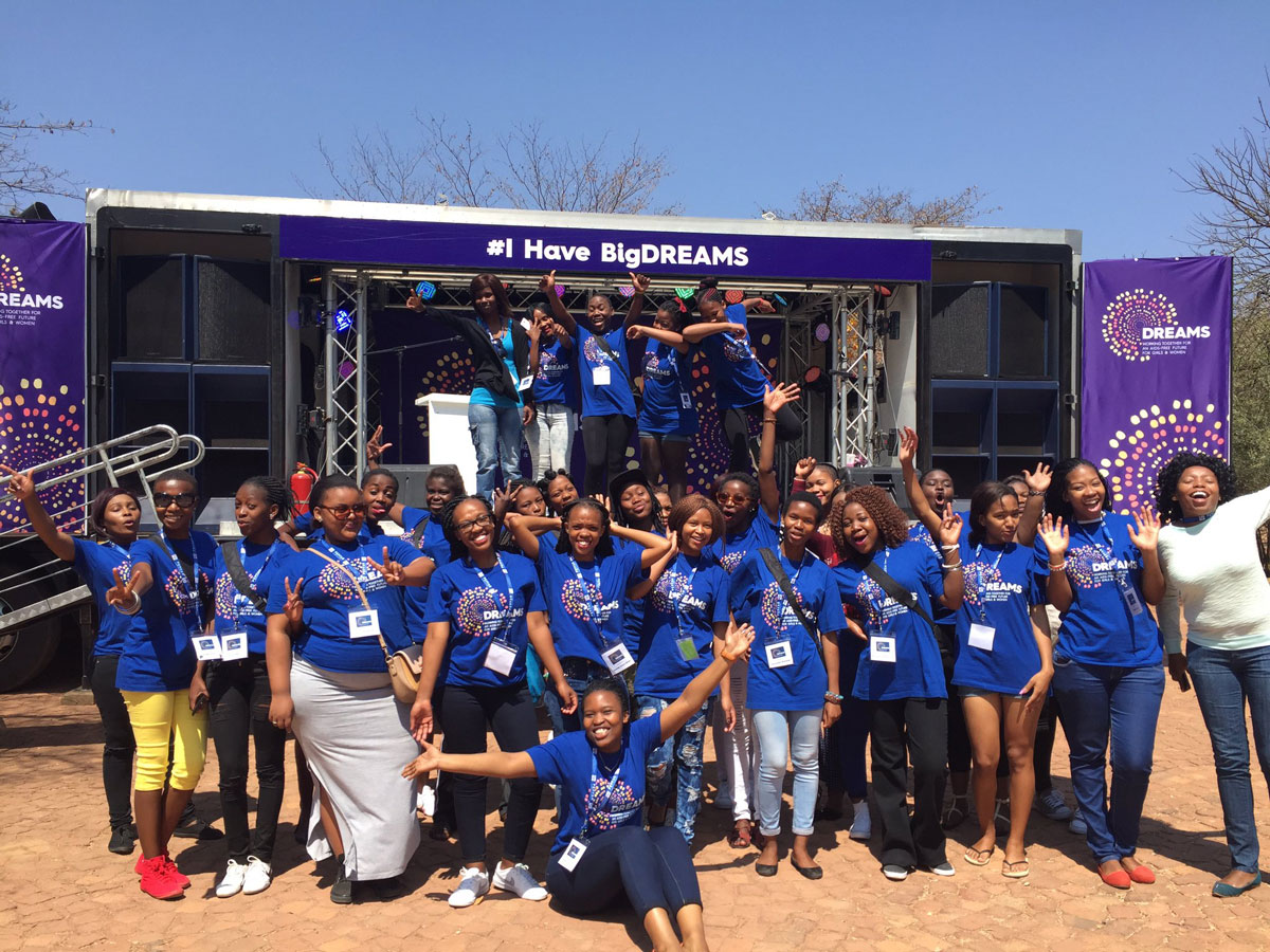 The DREAMS Ambassadors kick off the DREAMS in Motion campaign, taking their #BigDREAMS to South Africa.