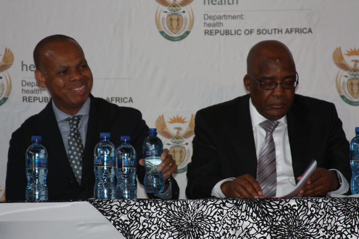 U.S. Ambassador Patrick Gaspard and Minister of Health Dr. Aaron Motsoaledi