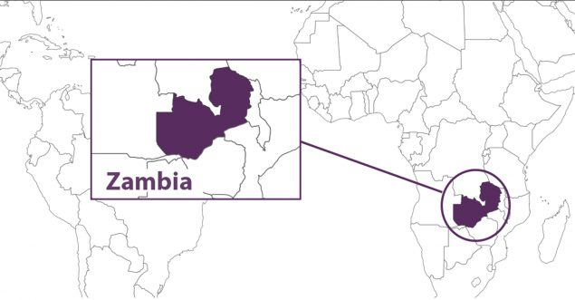 Zambia Global Map
