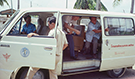 Van from Ministry of Health to transport trainees to the first Thailand investigation, 1981