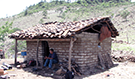Surveying a rural settlement in Guatemala.