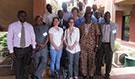 WAFETP workshop participants at the University of Ouagadougou on September 24, 2014. Ouagadougou, Burkina Faso.