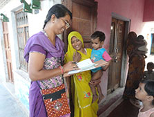 India EIS Officer conducting an immunization coverage survey in Alwar District, Rajasthan, India, October 2012.