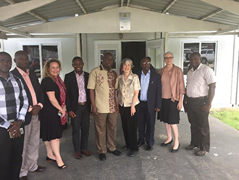 Dr. Dafae, CDC Sierra Leone, and EOC staff met with CDC Principal Deputy Director Dr. Anne Schuchat and STRIVE Team Lead Dr. Barbara Mahon during their recent visit to Sierra Leone.