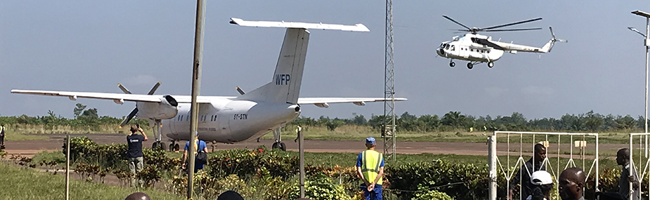 Support vehicles assisting with Ebola outbreak response in Northwest DRC.