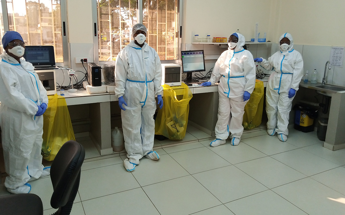 Laboratory experts at an Africa CDC-supported laboratory. Photo: Africa CDC