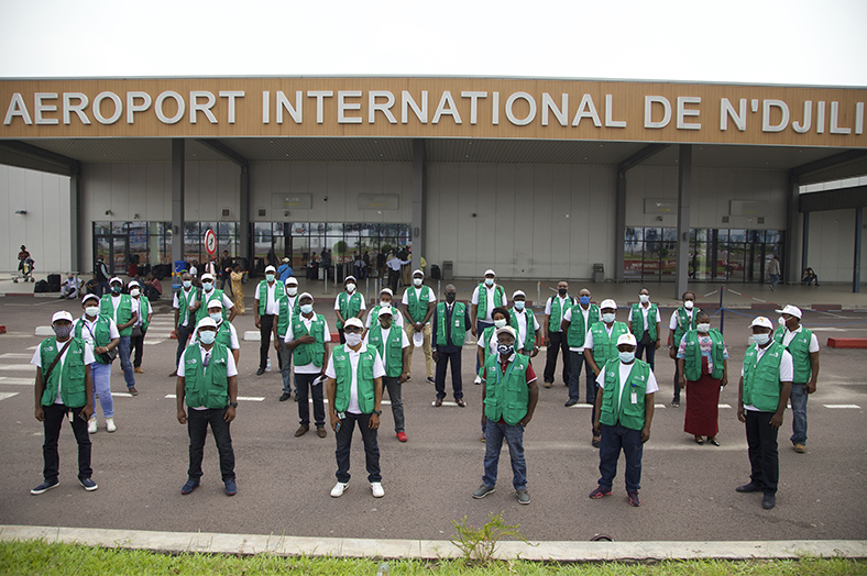 Volunteers from the Democratic Republic of Congo deploying to support COVID-19 response in other French-speaking African countries. Photo: Africa CDC