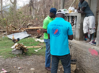 Conducted rapid needs assessment for relief support; Photo: Parlo César Saint Vil