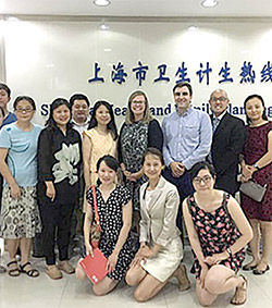 Shanghai CDC hosted the U.S. CDC's NCD Mobile Phone Survey team in August 2016.