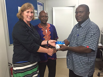 Formal CDC Ebola outbreak data handoff from CDC Sierra Leone to the Sierra Leone Ministry of Health and Sanitation during August 2016.