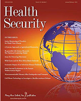 Thumbnail image of February 2018 Health Security Journal cover