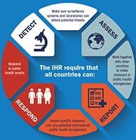 International Health Regulations infographic showing requirements