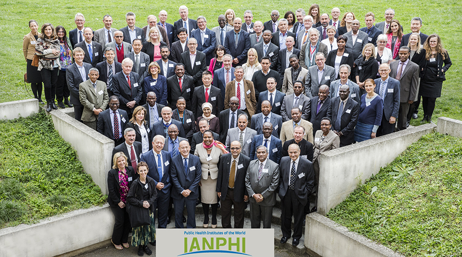 IANPHI 2015 annual meeting attendees in Paris, France. Participants included NPHI Directors and representatives, Ministry of Health representatives, and members of the IANPHI secretariat.