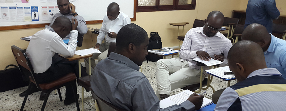 Provincial Medical Officers during the two-week training, supported by CDC and IANPHI