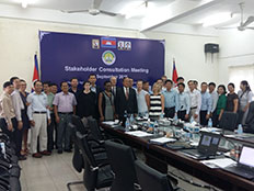 Representatives from public health organizations in Cambodia meet to provide input on the National Institute of Public Health Strategy in September 2016.