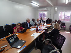 NPHI team members meeting with the Sierra Leone NPHA Development Workgroup.