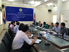 Representatives from IANPHI and CDC meet with members of the Cambodia NIPH
