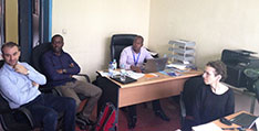 Colleagues from Rwanda's Institute of HIV/AIDS Disease Prevention and Control (IHDPC) and IANPHI.