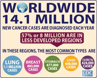 Worldwide Cancer Infographic