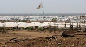 Refugee camp in South Sudan.