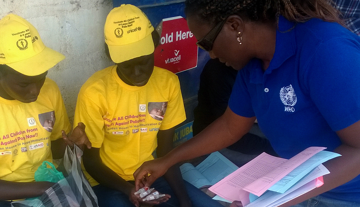 Supervisors check everything twice, making sure that each vaccination team has enough vaccine