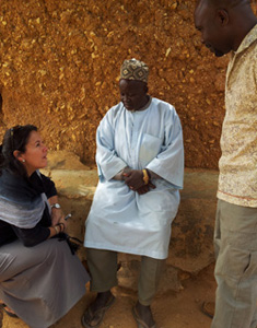 Dr. Victoria Gammino meeting with clan heads in Jigawa state, northern Nigeria.