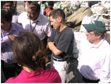 Dr. Thomas Frieden visits a colony of migrant garbage sorters in Ghaziabad, India to assess polio eradication efforts.