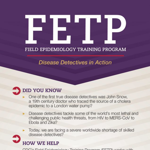 Infographic: FETP - Field Epidemiology Training Program - Disease Detectives in Action