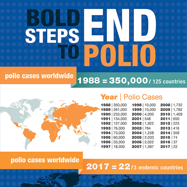 Bold Steps to End Polio - Infographic