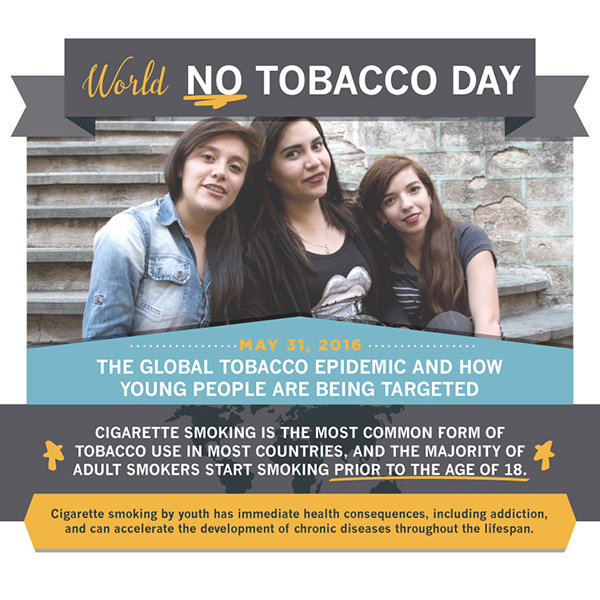 The global tobacco epidemic and how young people are being targeted