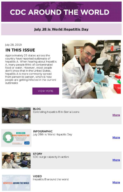 Thumbnail of CDC Around the World Newsletter