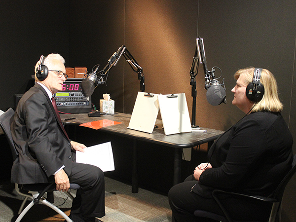 On August 17, 2017, the Center for Strategic and International Studies (CSIS) featured Dr. Rebecca Martin, Director of CDC's Center for Global Health, (right) in their podcast series Take As Directed. In the episode, Dr. Martin discusses CDC's work in health security and recent experiences with Ebola and Zika with the host J. Stephen Morrison (left), Director of the Global Health Policy Center at CSIS. The episode is titled