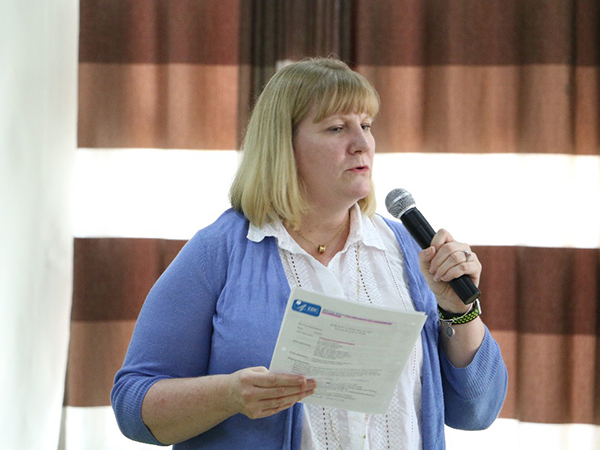 In Kigali, Rwanda, Dr. Rebecca Martin, Director of CDC's Center for Global Health, speaks at an event celebrating 15 years of CDC's work in the country.