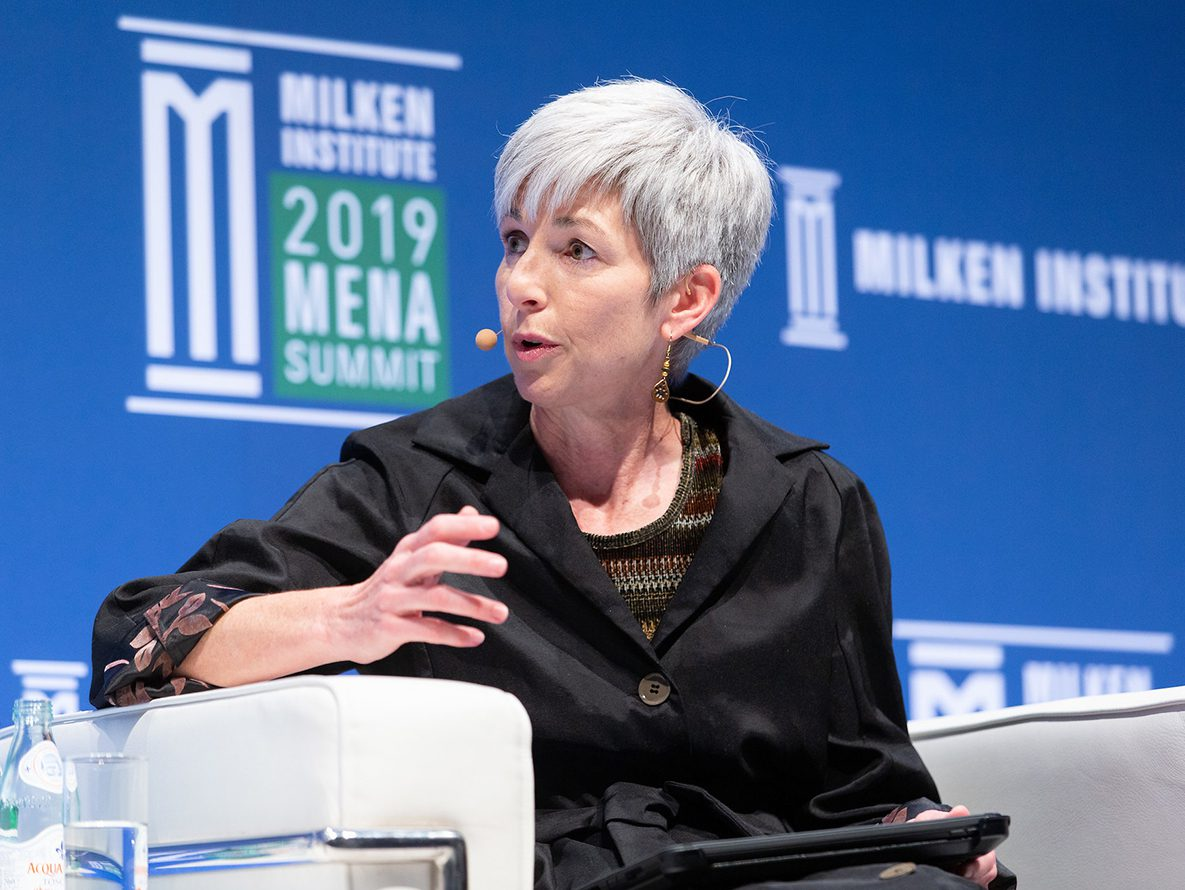 Dr. Nancy Knight spoke on CDC's work using mobile phone surveys for effective prevention and control of chronic and noncommunicable diseases at the Milken Institute MENA Summit