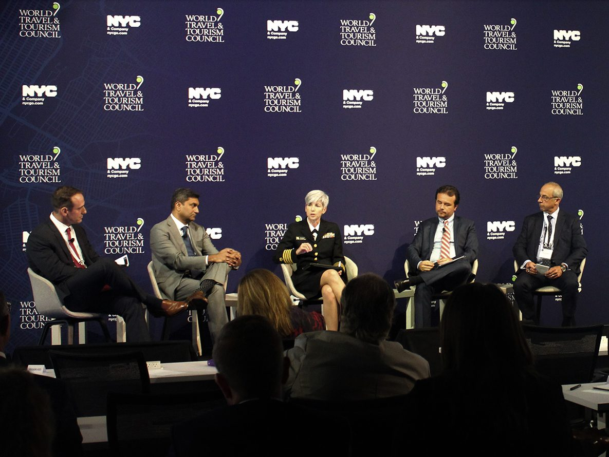 Dr. Nancy Knight, at the World Travel & Tourism Council Leader's Forum, spoke on a panel about the challenges ahead and the importance of public/private partnership