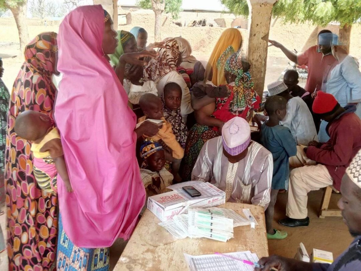 A vaccination post for a yellow fever campaign in Bungudu LGA