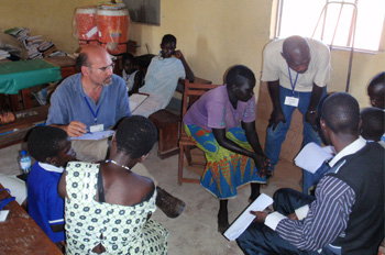 CDC scientist conducting consultation in South Sudan.