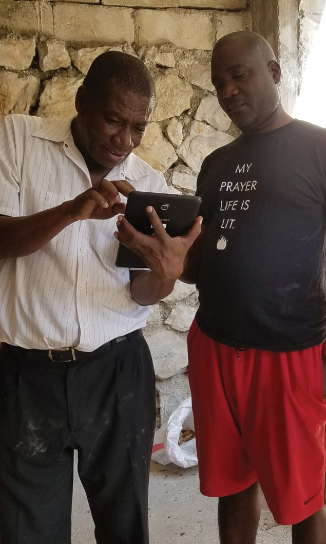 During the Haiti pilot of the new vector surveillance app