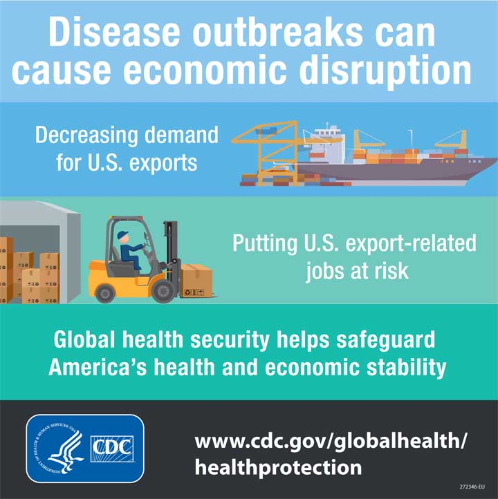 infographic for economic cost of disease outbreaks