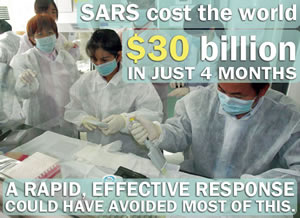 Infographic: SARS cost the world $30 billion in just 4 months. A rapid, effective response could have avoided most of this.