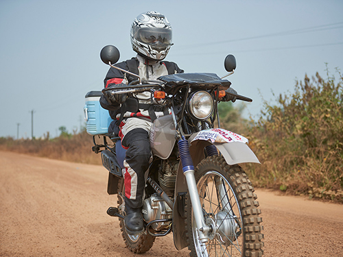 Motorcycles Help Speed Diagnosis in Liberia