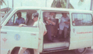 Van from Ministry of Public Health to transport trainees to the first investigation, 1981.